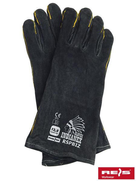 02376840bae230 Rękawice Skórzane RSPBIZINDIANEX. Rękawice ochronne w całości wykonane ze  skóry bydlęcej.